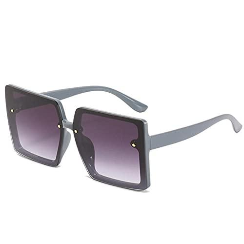 DLSM Gafas de Sol de Marco Cuadrado Grande Hombre Gafas de Sol de Gran tamaño Femenino de Gafas de Sol de Gran tamaño Glassdes de Glassdes UV400-C3