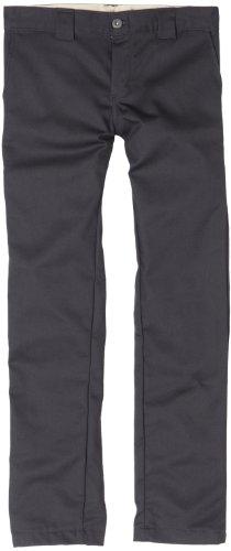 Dickies Big Boys' Skinny Straight Pant, Charcoal, 10