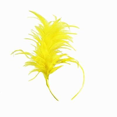Fxaelian 1920s Fascinator Feather Headband Gatsby Flapper Tea Party Wedding Derby