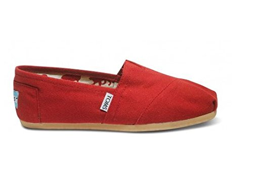 TOMS Women's Canvas Classic Red 001001B07-RED (Size: 8)