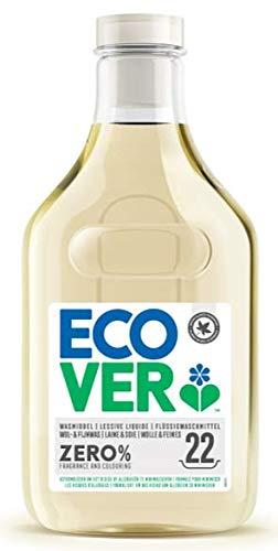 Ecover Lessive Délicat Laine Zéro   Sans Enzymes 0%   Doux Pour Les Peaux Sensibles Hypoallergénique   Convient Pour Les Bébés   1L - 22 Lavages