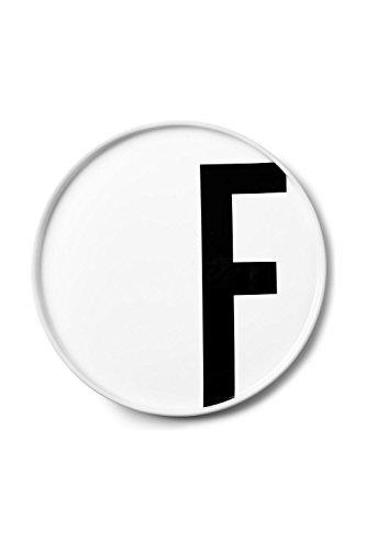 Design Letters - Teller Porzellan - Buchstabe: F - Arne Jacobsen