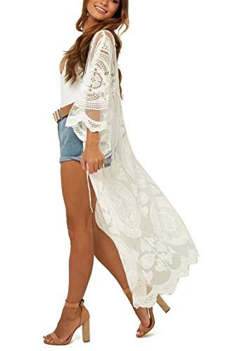 Jielucix Strandkleider Damen Sommer Kimono Cardigan Strickkleid Bademode Geschenk