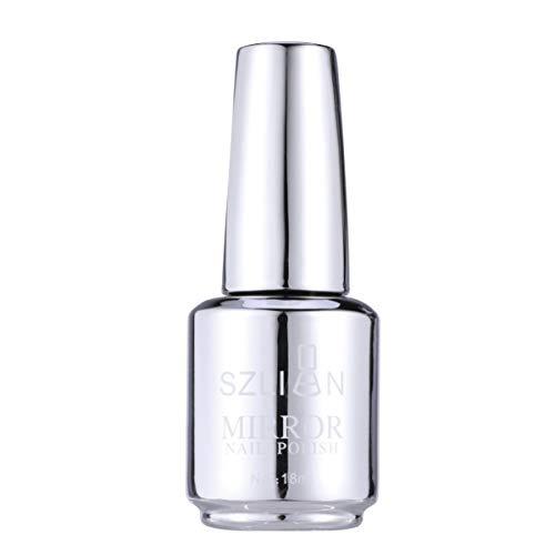 Luxshiny Nagellack Metallic-Farben Spiegeleffekt Nagellack Hochglanzgel Maniküre Nagellack (12 Silber)