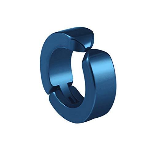 weilifang Clip de Oreja Unisex Redondo de Acero Inoxidable para no Piercing Anti-alergia del oído Pendiente de Acero Titanium de la firmeza contra la alergia Clip del oído