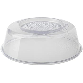 Ikea PRICKIG - Tapa para microondas (26 cm), Color Gris, Blanco: Amazon.es: Hogar