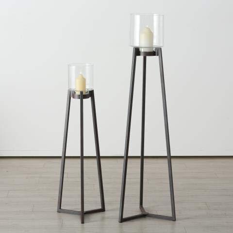 BOLTZE Windlicht Denia Set H108-143cm Material: Eisen