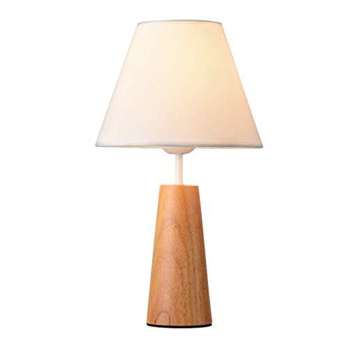 LHQ-HQ Illuminazione decorativa, lettura lampada-comodino e lampada da tavolo Lampade da tavolo moderna Minimalista solido caldo legno Lampada da comodino Decoration Studio Camera creativa Nordic lamp