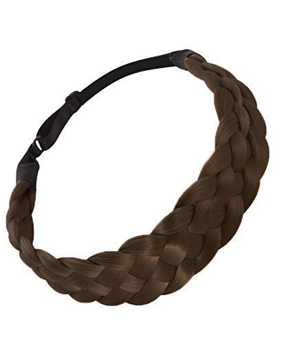 KUKUJII Haarband Kopfschmuck Mode Perücke Stirnband Zöpfe Haarschmuck Frauen Frisur Zopf Geflochtene Haarband Mädchen Elastisches Haarband Weibliche Kopfbedeckungen