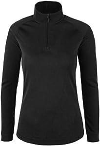 Mountain Warehouse Top térmico Interior de Manga Larga Talus para Mujer - Camiseta térmica cálida, Camiseta Ligera, Transpirable, Cuidado fácil, Invierno Negro 46