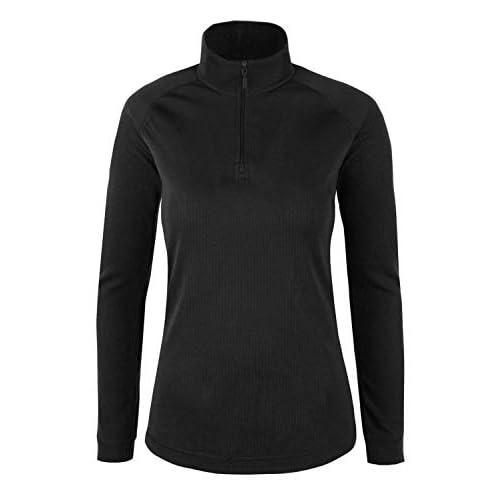 Mountain Warehouse Talus - Camiseta térmica para mujer, cuello con cremallera, manga larga, ligera, transpirable, de secado rápido, perfecta para clima frío a buen precio