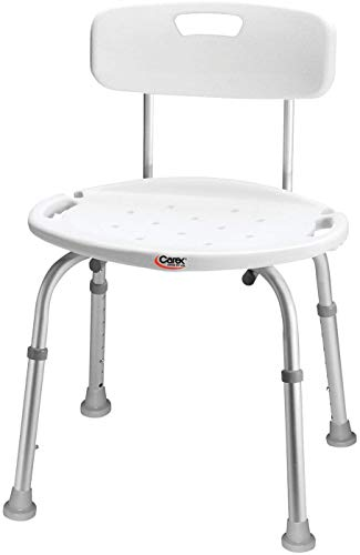 carex health brands shower chairs Carex Health Brands Adjustable Bath and Shower Seat with Back
