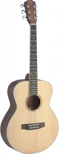 James Neligan ASY-A MINI Acoustic Travel Guitar Solid Spruce/Mahogany mit Tasche natur