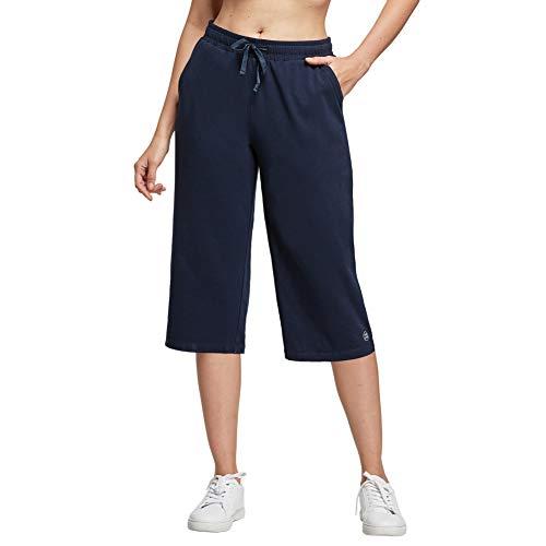 Ogeenier 3/4 Pantalon Chandal Mujer Algodon Pantalones Deporte Jogger Running Yoga Fitness con Bolsillos