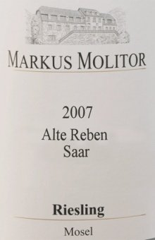 Weingut Markus Molitor, Alte Reben Saar Riesling QbA trocken, 6 x 0.75 L