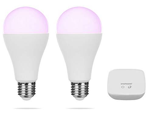 Smartwares Kit Confort, Bombillas Inteligentes, Luces de Colores Ajustables, 2 Unidades
