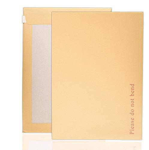 Arpan Lot de 125 enveloppes à dos en carton rigide Ne pas plier Format A4 C4 324 x 229 mm