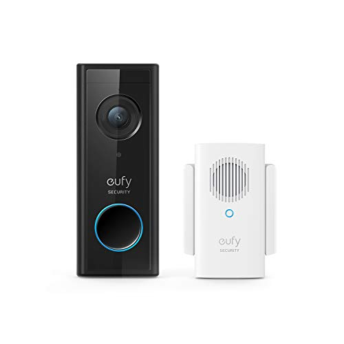 eufy Security, Video Doorbell (Battery-Powered) with Chime, 1080p, 120-Day Battery Life, Easy Installation, Encrypted Local Storage, No Monthly Fees ( - $84.99