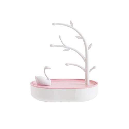 Estante de exhibición, estante de la joyería, estante del árbol del lago de los cisnes, estante de almacenamiento colgante para la pulsera del llavero de la joyería