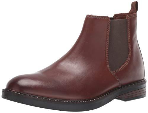 Clarks Men's Paulson Up Chelsea Boot, Mahogany Leather, 130 M US