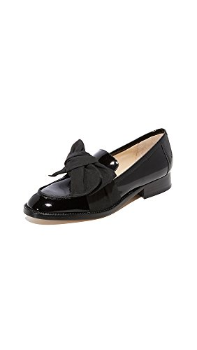 botkier Women's Violet Bow Loafers, Black, 6 Medium US