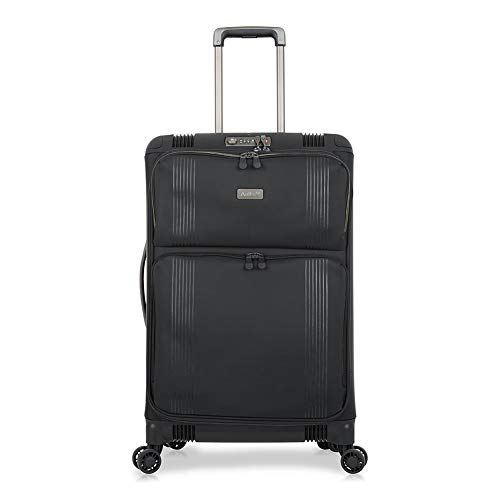 Antler Titus, Super-Strong, Durable & Lightweight Soft Shell Suitcase - Colour: Black, Size: Medium