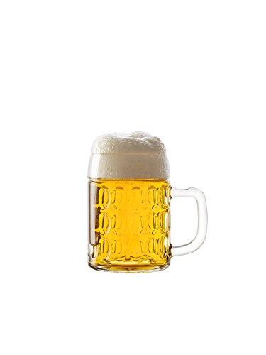 STÖLZLE OBERGLAS Kaiser Bierkrug 0,3l l Original Biermaßkrug Oktoberfest I 6 Stück als Set I Traditionelles Bierglas I spülmaschinenfest I hochwertige Qualität