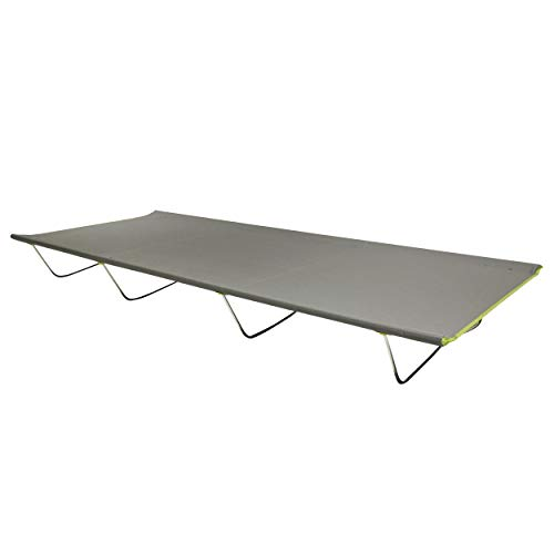 Homecall - Cama de camping de aluminio (gris)