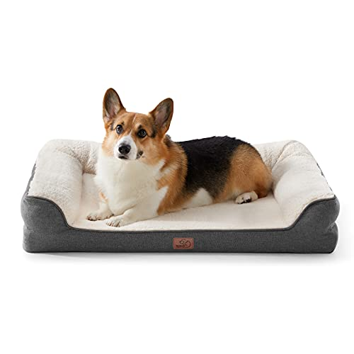 Bedsure orthopädische Hundebett große Hunde - Hundesofa mit Memory Foam, kuschelig...