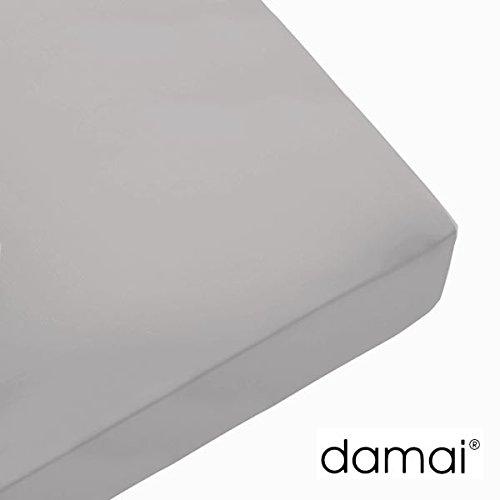 Damai Damai Nightkiss Topper hoeslaken lichtgrijs - 9-15cm met elastiek - 200 x 220 cm 100% katoen