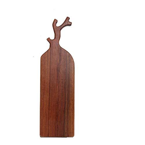 Tabla de cortar de madera maciza, tablero de queso de madera maciza con asa, tablero de queso doméstico y tablero de aperitivo, carne cocida, adecuado para la aconalización doméstica, boda,50*14