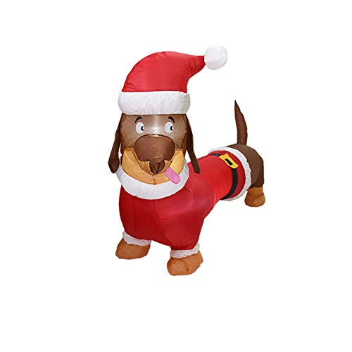 7.9Ft Christmas Inflatable Dog with Build-in LEDs Blow Up Inflatables for Christmas Party Indoor, Outdoor, Yard, Garden, Lawn Decorations