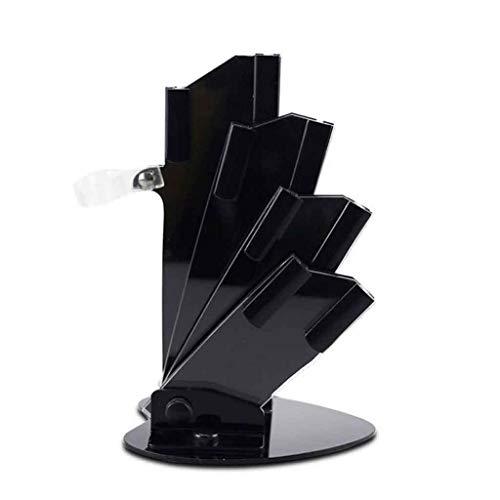 HAI 3/4/5/6 Pouces Porte-Couteau en Forme D'éventail Porte-Couteau Acrylique avec éplucheur en Céramique Support De Couverts Bloc Outil Fournitures De Cuisine