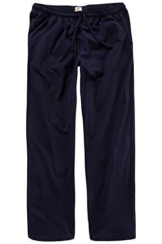 JP 1880 Herren große Größen bis 8XL, Pyjama-Hose aus 100{e0a8a673380420dcbcd6eaea92bb1a260f69ccd7662653543790c9a977f069c4} Baumwolle, Schlafanzug-Hose, Sweatpants mit elastischem Bund Navy 3XL 708406 76-3XL