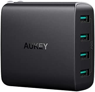 AUKEY USB Charger 4 Ports with Foldable Plug USB Wall Charger Compatible with iPhone 12 Pro product image