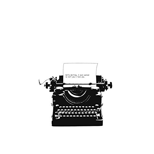 XIANGPEIFBH canvas Posters Print Black White Typewriter Love Note Print Large Wall Art and Classical Wall Picture For Living Room Decor 40x60 cm/15.7' x 23.6' No Frame