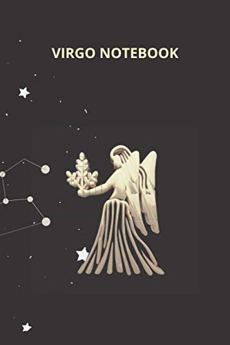 VIRGO NOTEBOOK: Zodiac notebook, Horoscope journal, Star signs notebook, Lined pages.