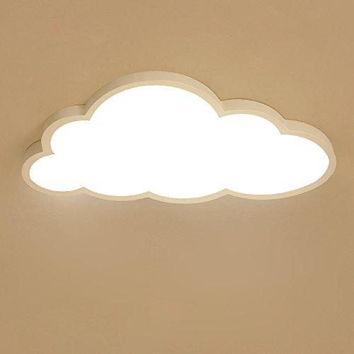 Plafoniera LED Ultra-sottile 5cm Creativo Nuvole Soffitto Lampada Nursery Luce di soffitto Ragazzi e ragazze Lampada da letto Semplice Cartoon Romantico Lampada da soffitto (Luce bianca)