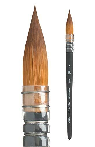 Princeton Aqua Elite, Series 4850, Synthetic Kolinsky Watercolor Paint Brush,Quill, 6