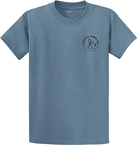 Koloa Surf Vintage Fisherman Logo Heavyweight Cotton T-Shirt-StoneBlue/b-XL