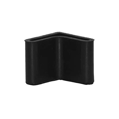 Flyshop Chair Leg Caps, Rubber Protective Caps, Durable, Non-scratch, Angle 30 * 30mm, 4pcs, Black