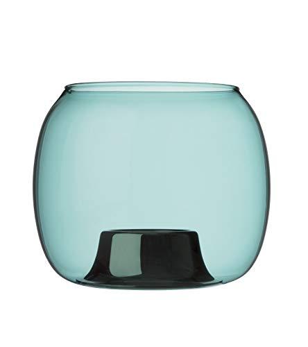 Iittala Ilkka Suppanen Windlicht, Glas/Edelstahl, Seeblau, 141x115 mm