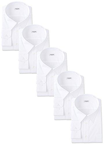 [アトリエサンロクゴ] 白ワイシャツ 長袖 5枚セット 形態安定 ビジネス 冠婚葬祭 at-6041-set メンズ スマ...