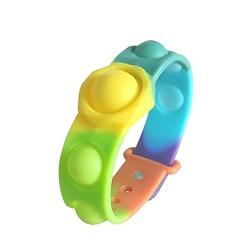 TBEONE Empuje la pulsera sensorial de la burbuja del juguete de la descompresión pulsera del silicón para los niños y