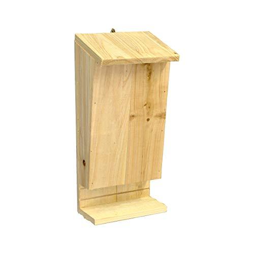 Caja nido para murciélagos con perca de aterrizaje