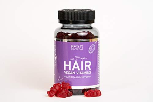 Beauty Bear Hair Vitamines, Vegan, Biotine supplement, 60 Gummies