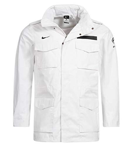 Nike FFF M65 Parka Chaqueta Federación Francesa Fútbol Blanco/Negro Hombre L