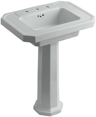 KOHLER K-2322-8-95 Kathryn Pedestal Bathroom Sink with 8