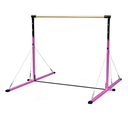 Pro Gen 4 Adjustable Kip Bar from Pro Model with Stainless Steel Cable Supports Horizontal Bar Gymnastics Equipment