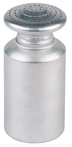 APS Salzstreuer, Pommes-Frittes Streuer mit Schraubkappe, Streuer für Salz, Aluminium mattiert, 8 x 8 cm, Höhe 17 cm